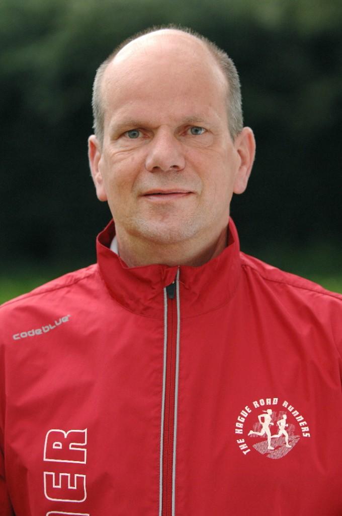 Trainer Ed Reinicke en tevens voorzitter technische commissie