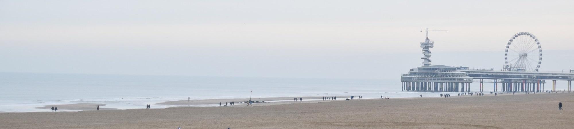 … en even het strand aantikken