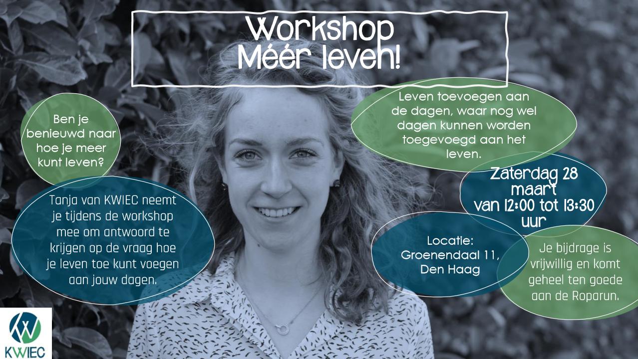 Workshop 'Méér leven!' afgelast